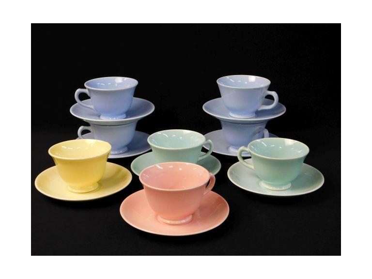 Vintage Lu-Ray Cups and Saucers