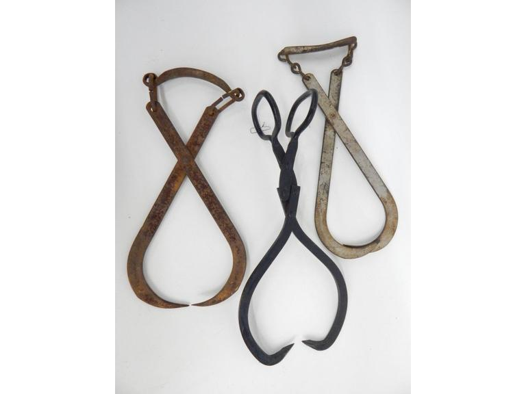 Primitive Ice Tongs
