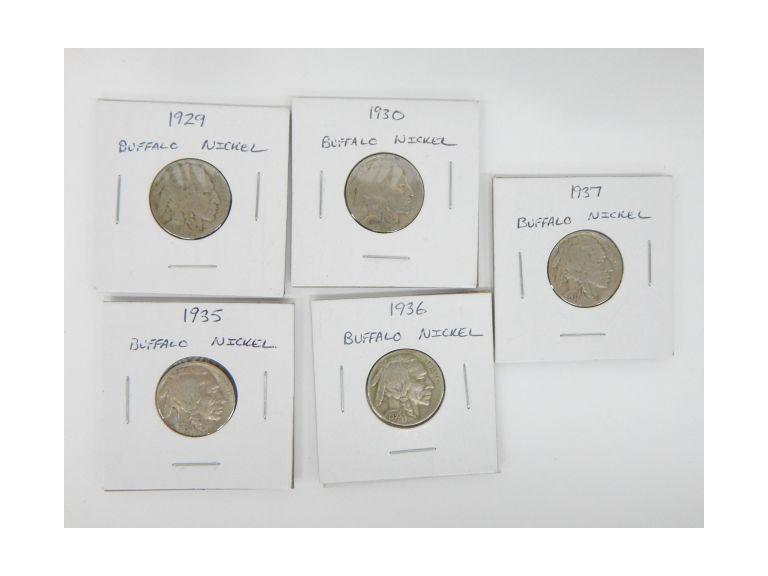 Vintage Buffalo Nickels