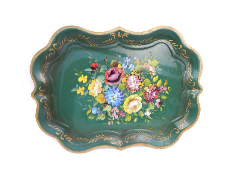 Large Painted Tray