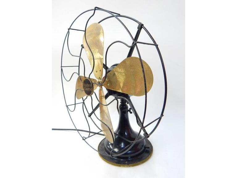 Vintage Brass Blade Fan