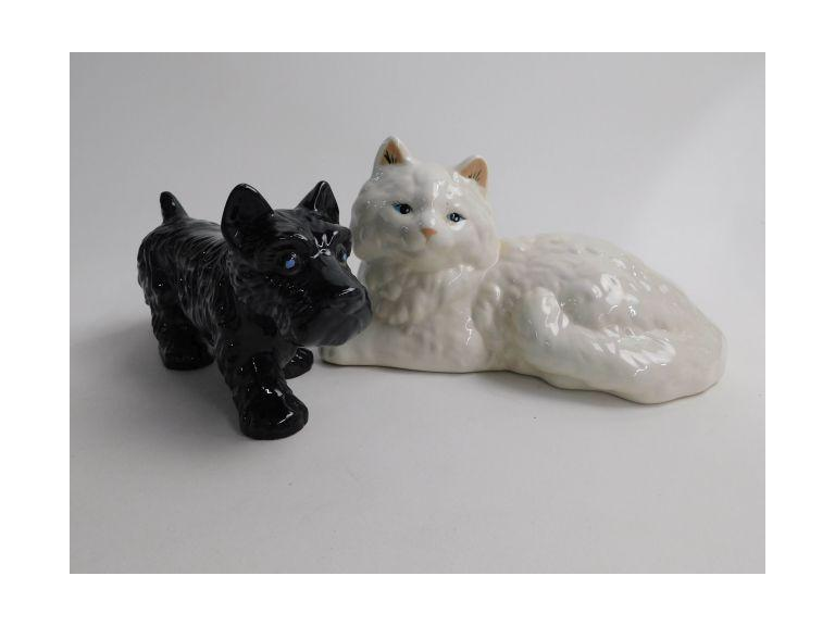 Ceramic Doggy & Kitty