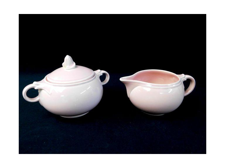 Vintage Lu-Ray Creamer and Sugar Set