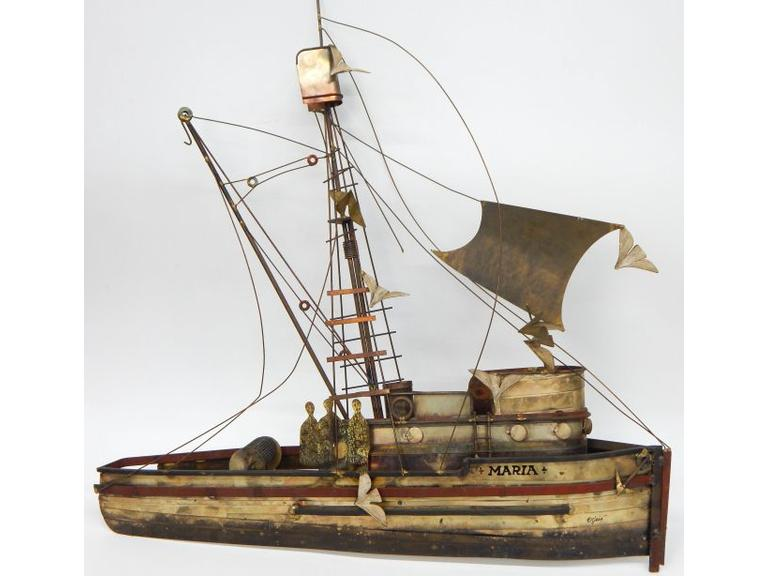 Metal Art Boat Model