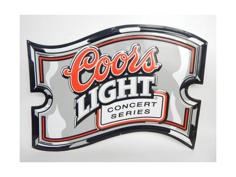 Coors Tin Metal Sign
