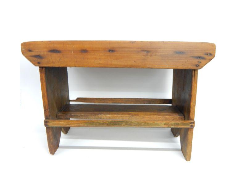Route 8 Auctions Antique Work Bench Seat