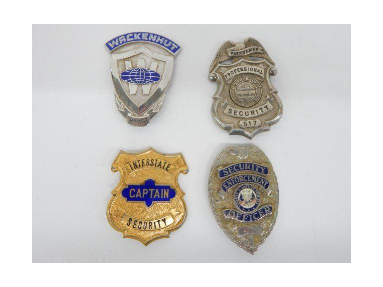 Vintage Security Badges