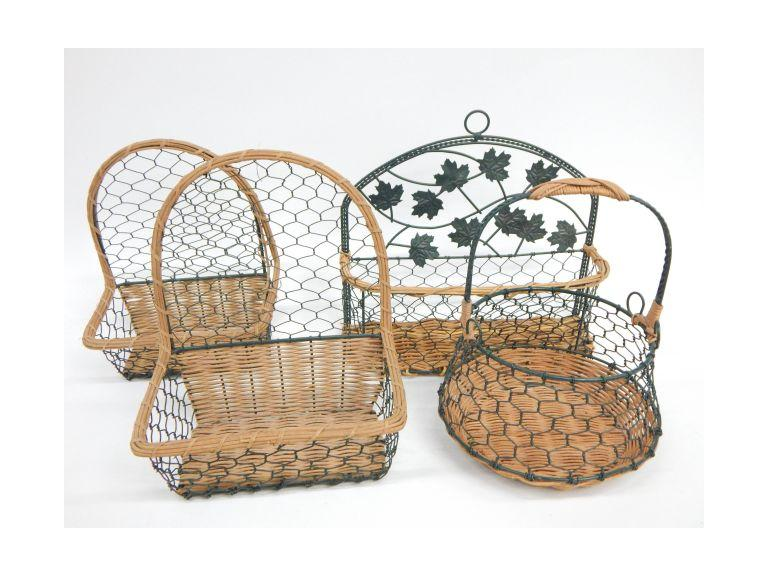 Wire Framed Baskets