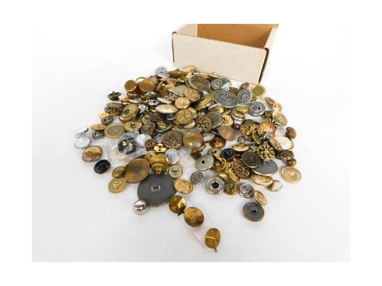 Lot of Vintage Metal Buttons
