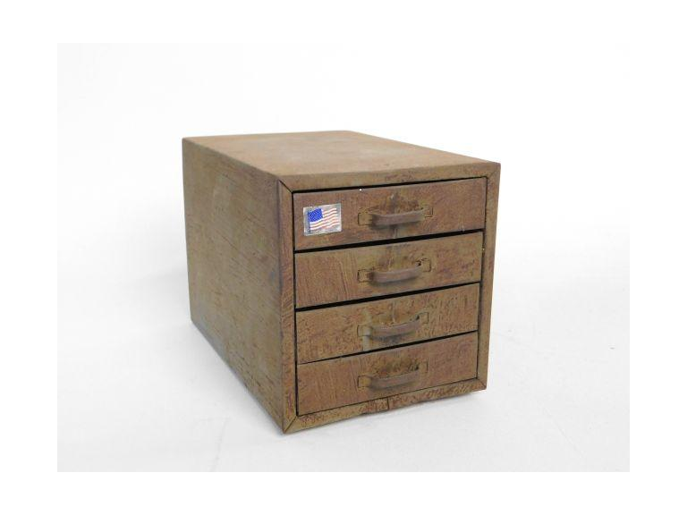 4 Drawer Metal Storage Box