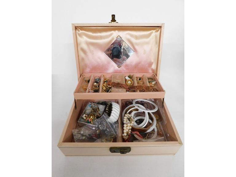 Jewelry Box with Rings, Pins & Bracelets