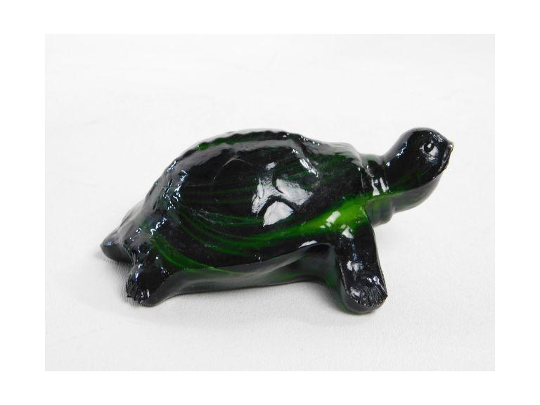 Swirl Slag Glass Turtle
