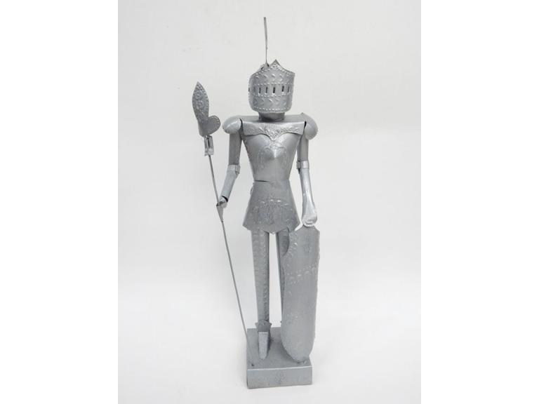 Tin Metal Knight Figure