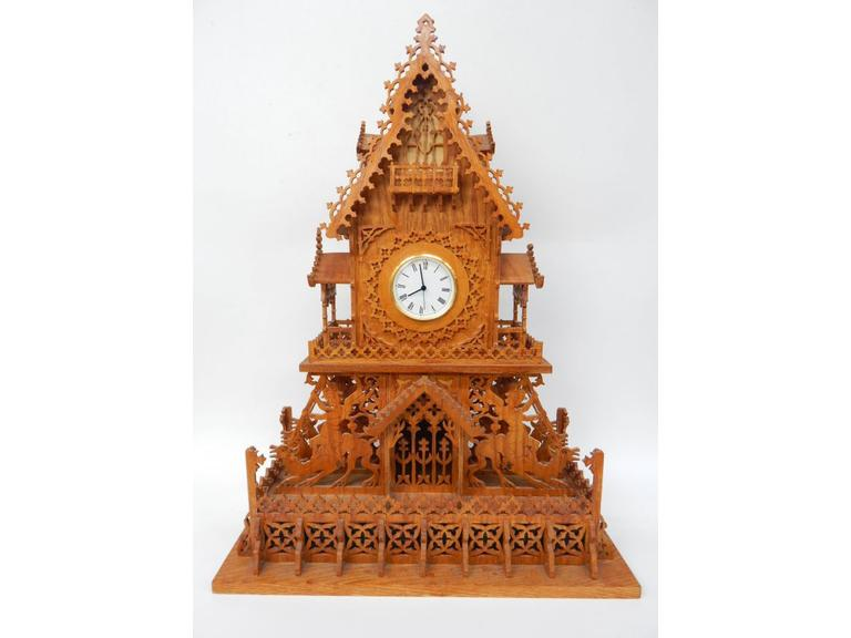 Large Scrollwork Clock