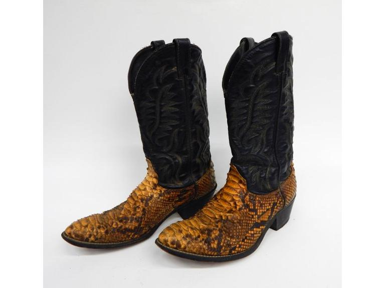 Snakeskin Leather Boots