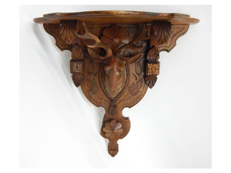 Ornate Wooden Wall Shelf