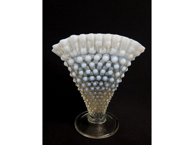 Fenton Opalescent Fan Vase