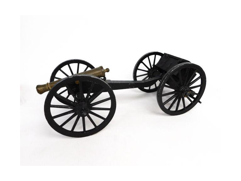 Brass Cannon with Ammo Carriage