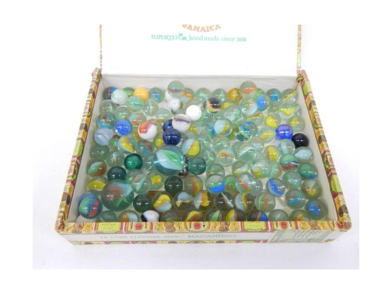 Cigar Box of Marbles