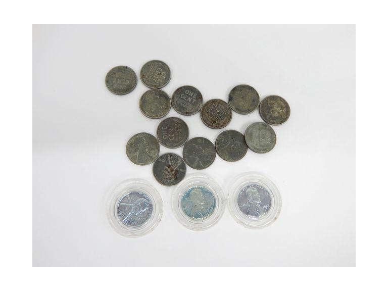 1943 WW2 Steel Pennies