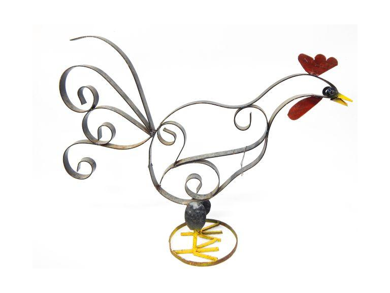 Large Metal Art Rooster