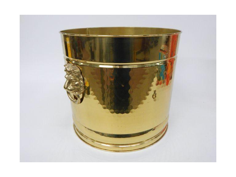 Large Brass Plant Bucket
