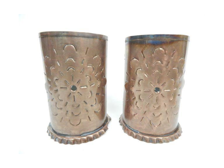 Tin Metal Candle Holders