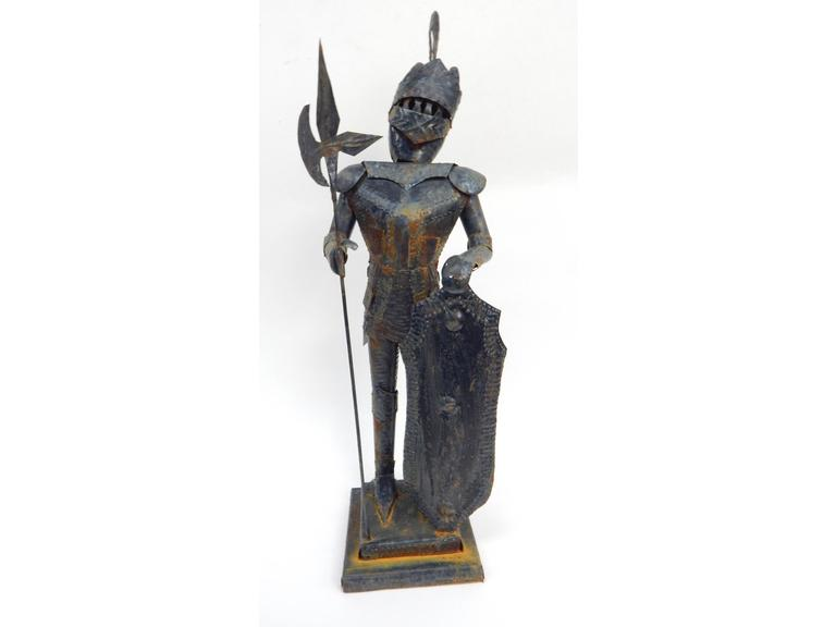 Tall Metal Knight Figure