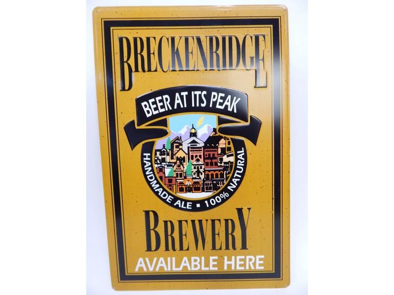 Beer Brewery Ad Tin Sign