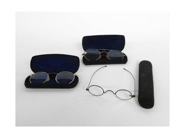 Antique Eyeglasses with Cases