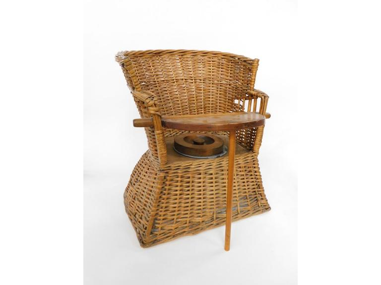 Antique Wicker Potty Chair