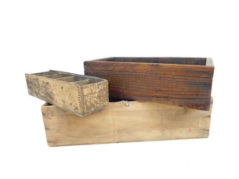 Wooden Storage Boxes