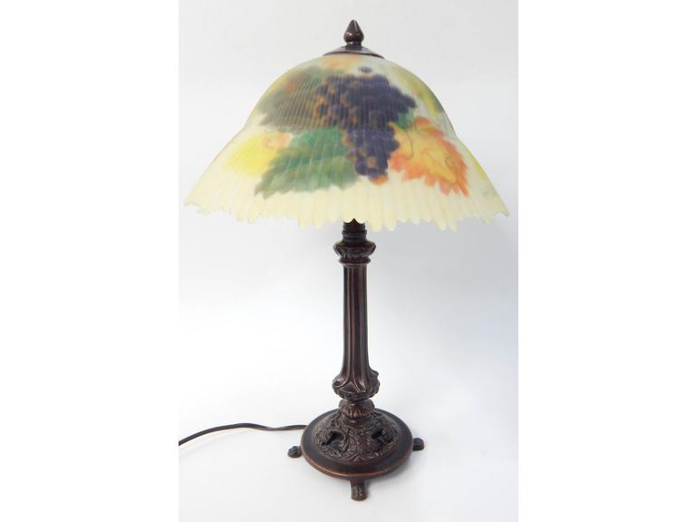 Reverse Painted Lamp