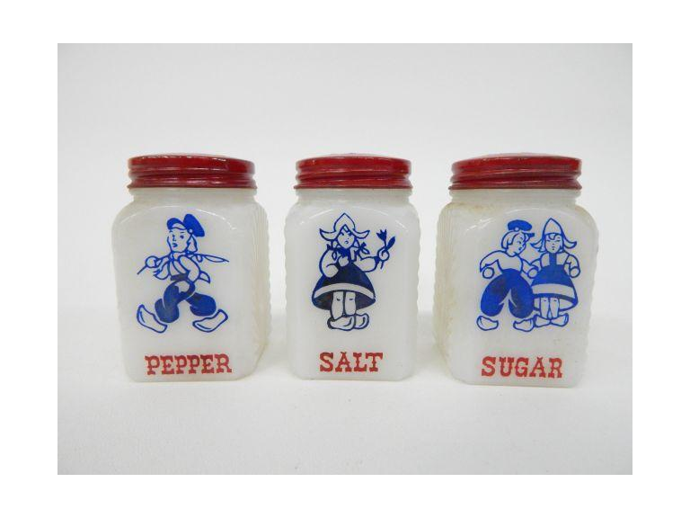 Milk Glass Season Shakers