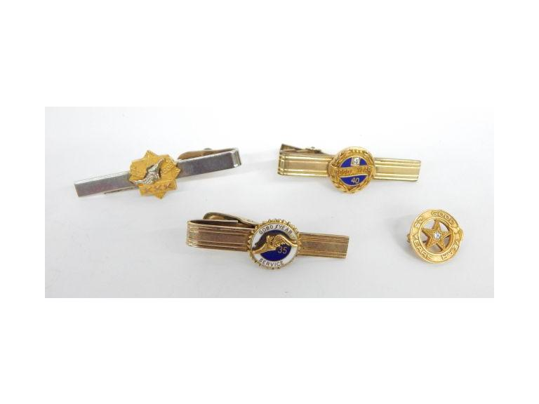 Goodyear Gold Tie Clips