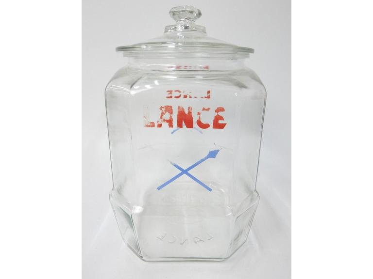 Vintage Lance Display Jar with Lid
