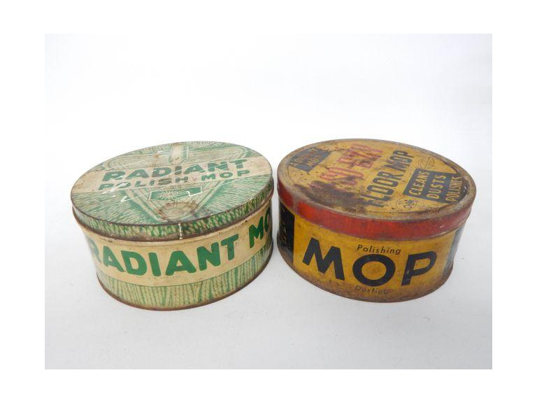 Dusting Mop Advertising Tins