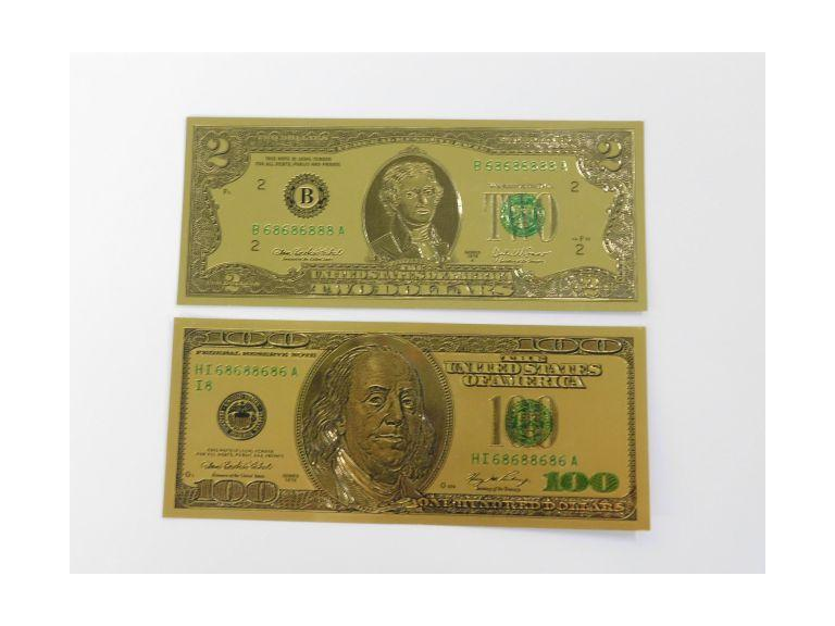 Gold Plated U.S. Currency