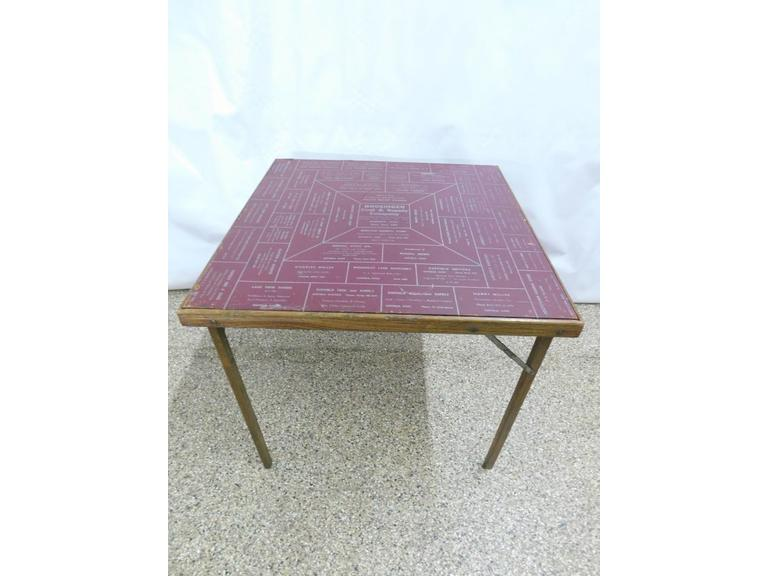 Vintage Advertising Folding Table
