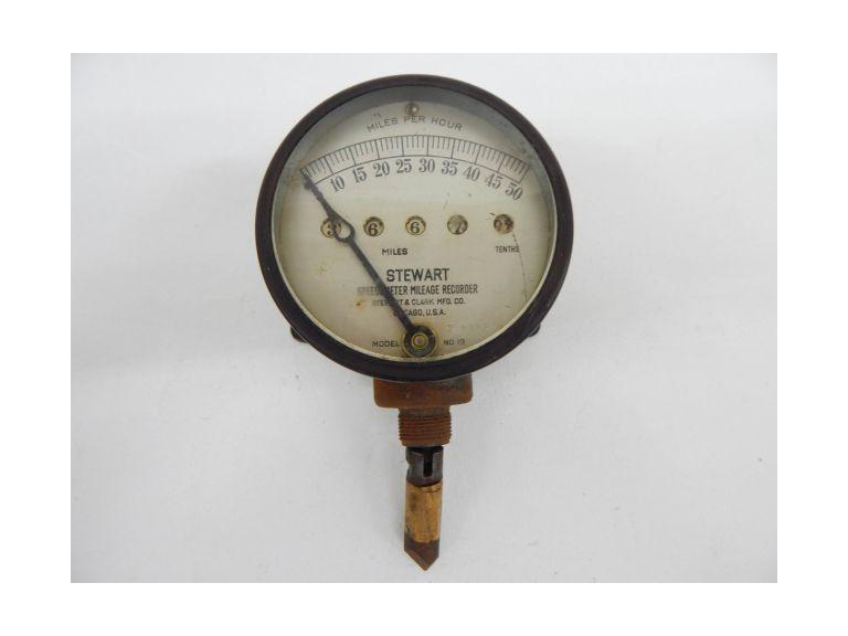 Antique Stewart Speedometer
