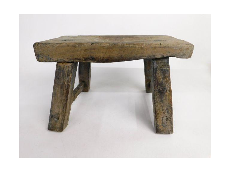 Old Wood Bleached Out Stool
