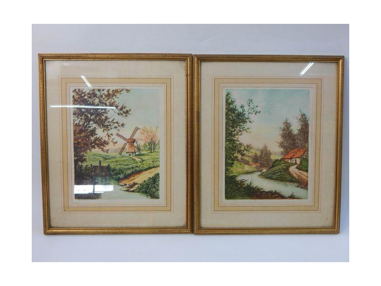 Framed & Signed Etchings