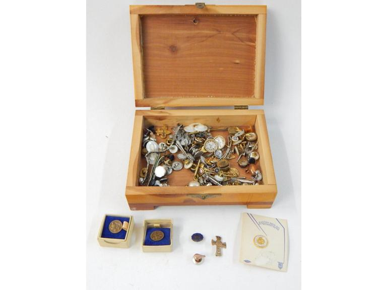 Box of Lapel Pins and more