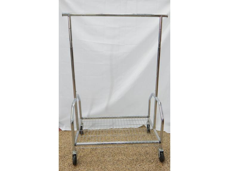 Rolling Metal Clothing Rack