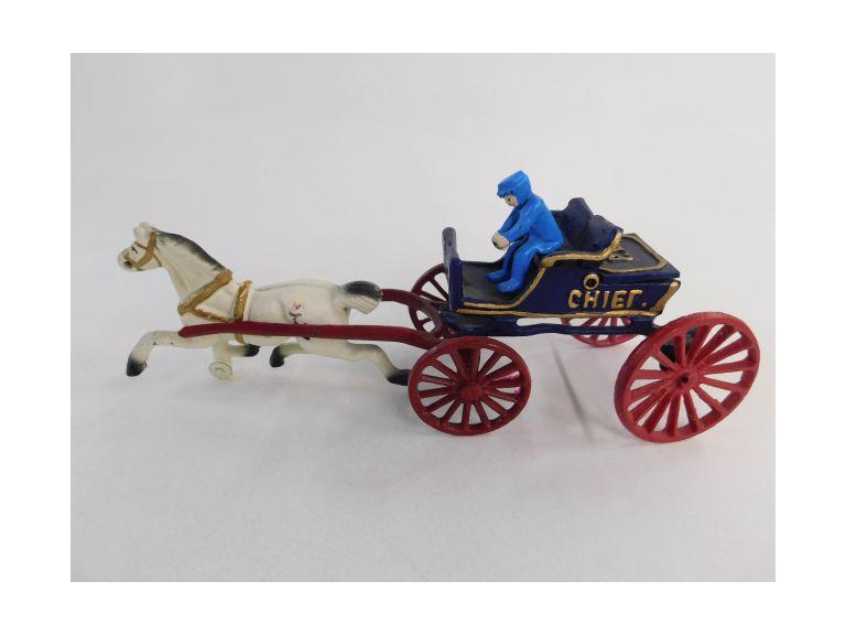 Cast Iron Police Chief Wagon with Driver