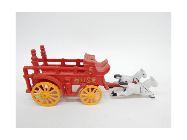 Cast Iron Toy Firetruck