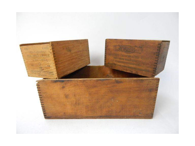 Small Vintage Wooden Boxes