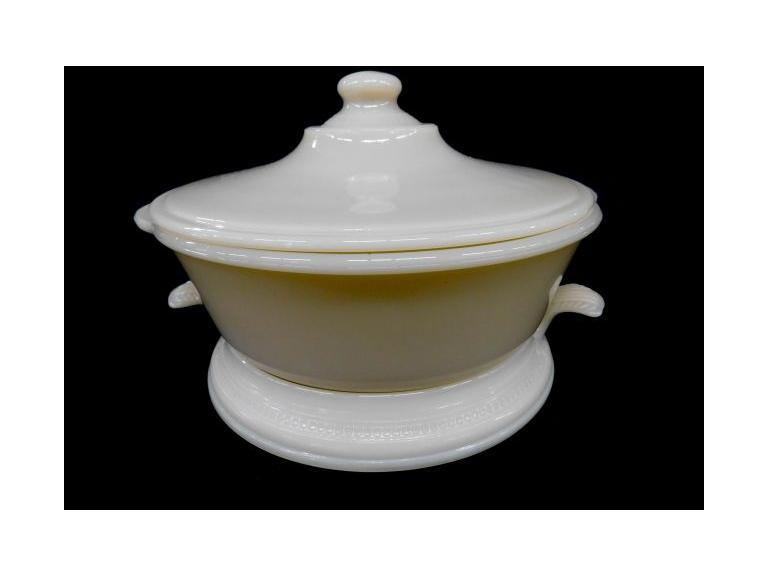 Vintage Fire King Ivory Custard Lidded Dish