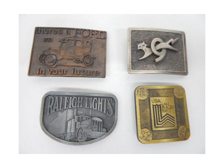Old Belt Buckle Collection