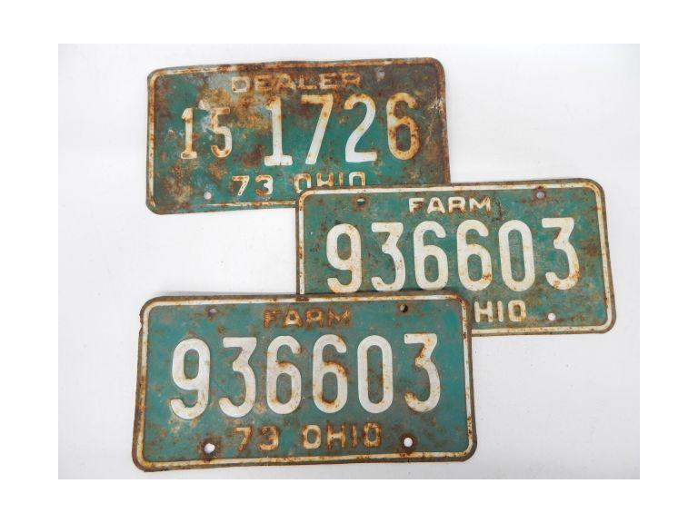 1973 Farm & Dealer License Plates